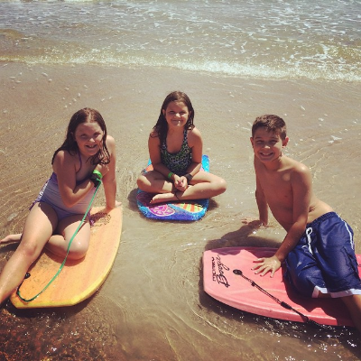 Boogie Boarding at NSB