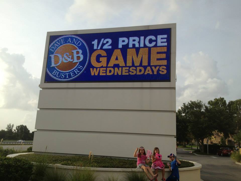 1/2 Price Game Wednesdays at Dave & Busters