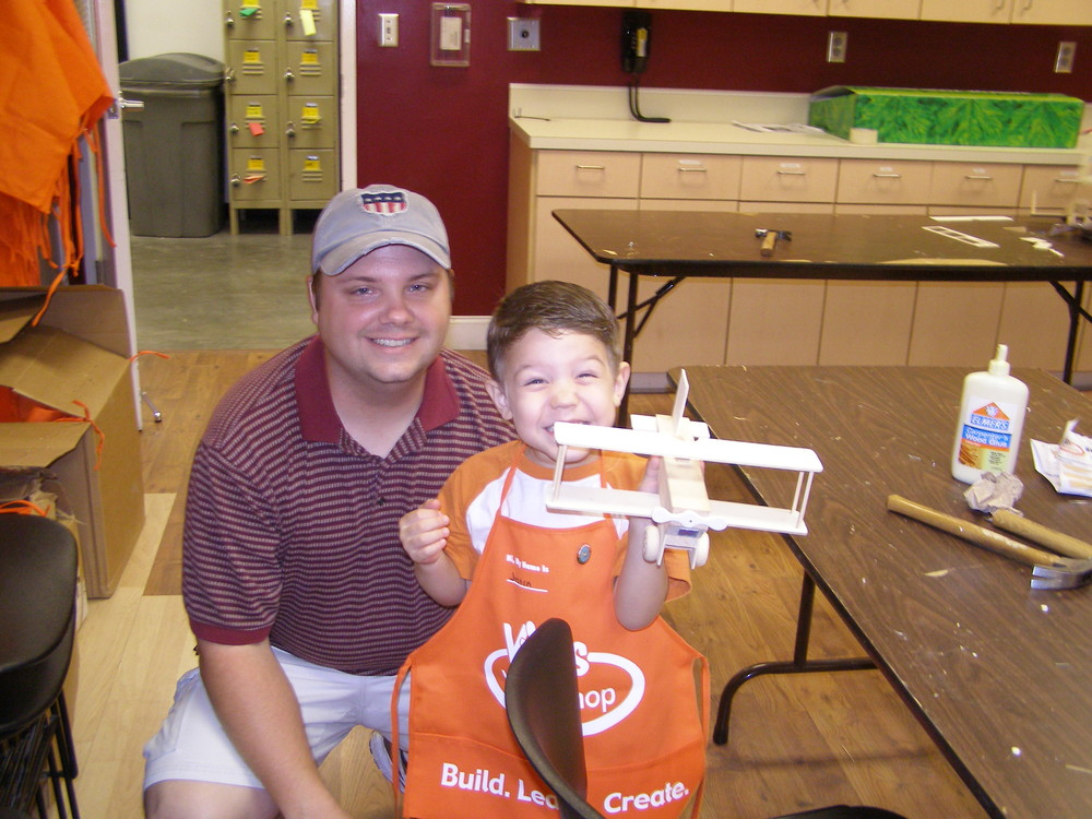 Built an airplane at Home Depot