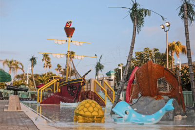 Pirate Ship Splash Pool Area