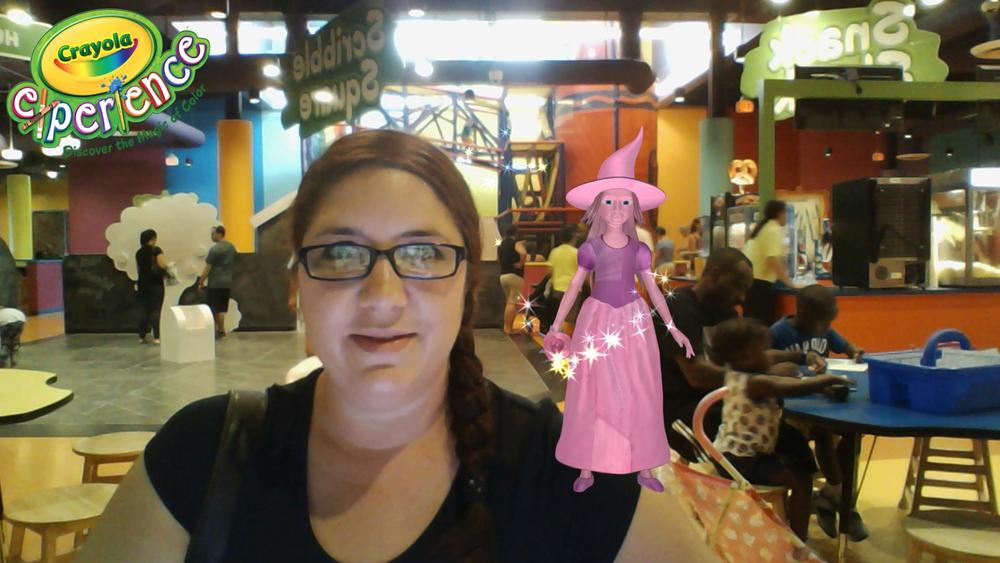 Crayola Experience Orlando, FL COLOR MAGIC Selfie Image emailed to me.