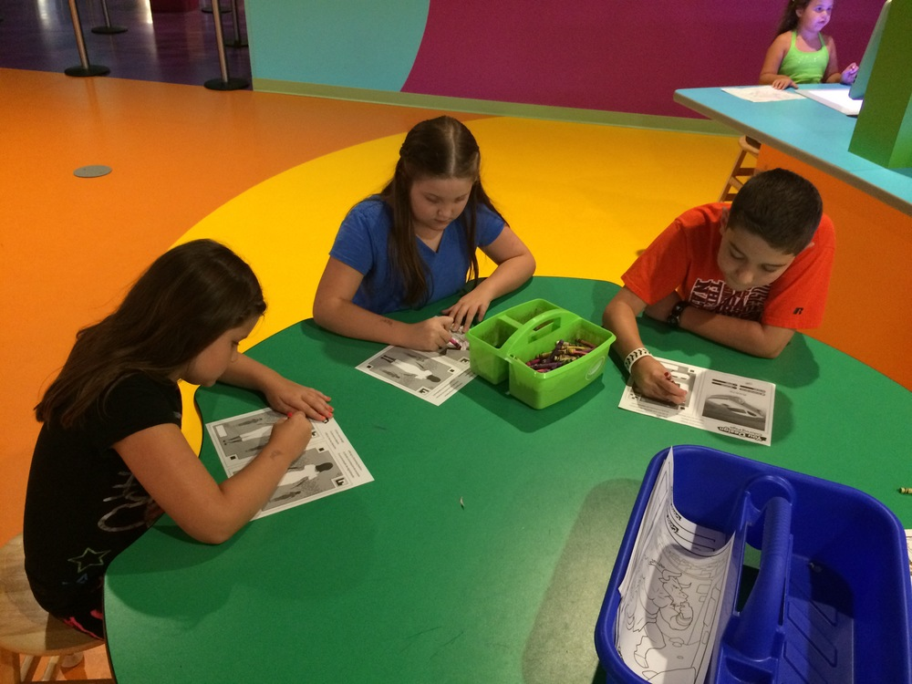 Crayola Experience Orlando, FL YOU DESIGN Coloring Table