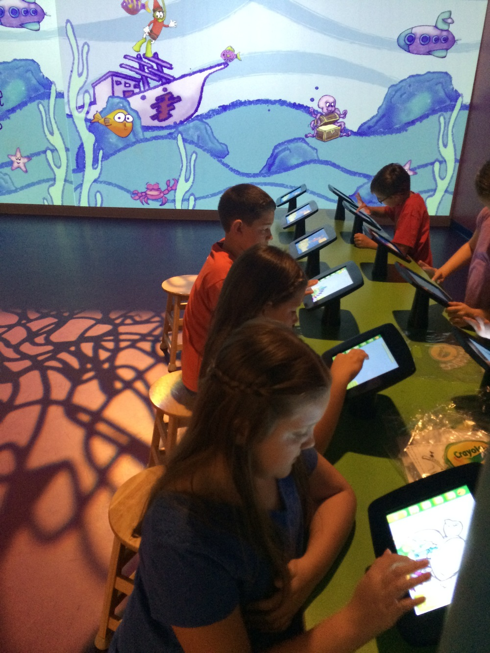 Crayola Experience Orlando, FL ART ALIVE Touchscreens