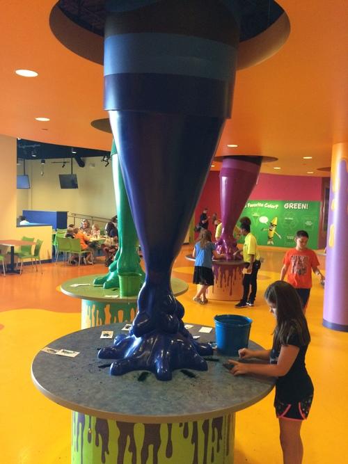 Crayola Experience Orlando, FL MELDOWN Blue Station