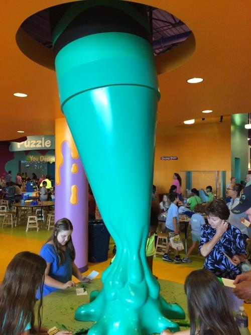 Crayola Experience Orlando, FL MELTDOWN Green Station