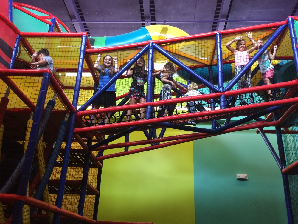 Crayola Experience Orlando, FL COLOR PLAYGROUND Rope Bridge