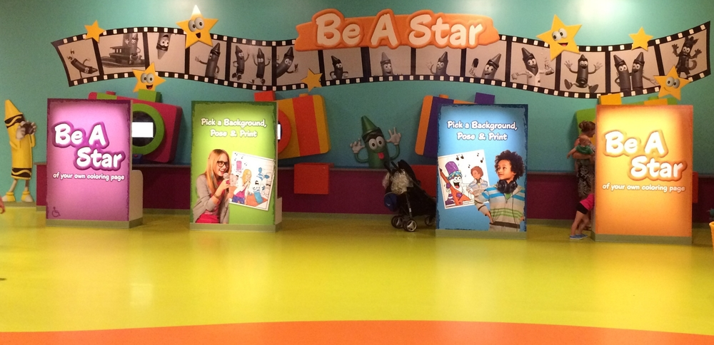 Crayola Experience Orlando, FL BE A STAR Photo Booths