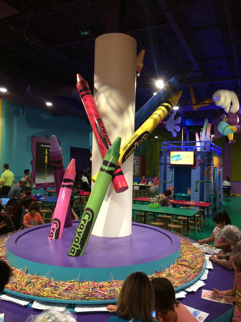 Crayola Experience Orlando, FL COLOSSAL CADDY