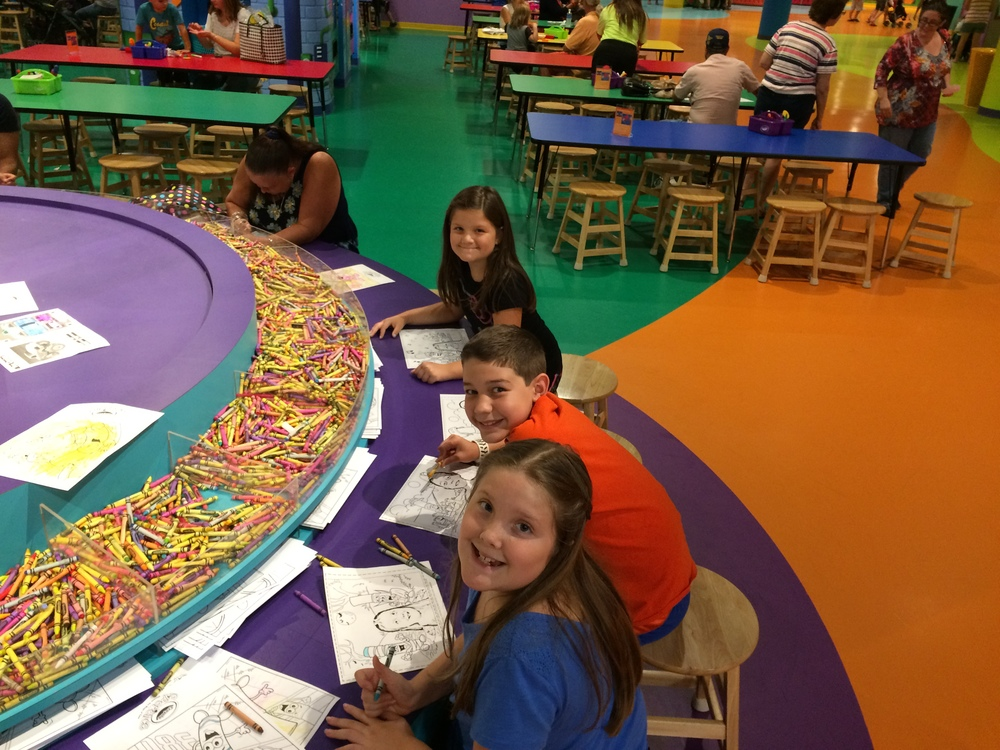 Crayola Experience Orlando, FL COLOSSAL CADDY Coloring our own Coloring Pages