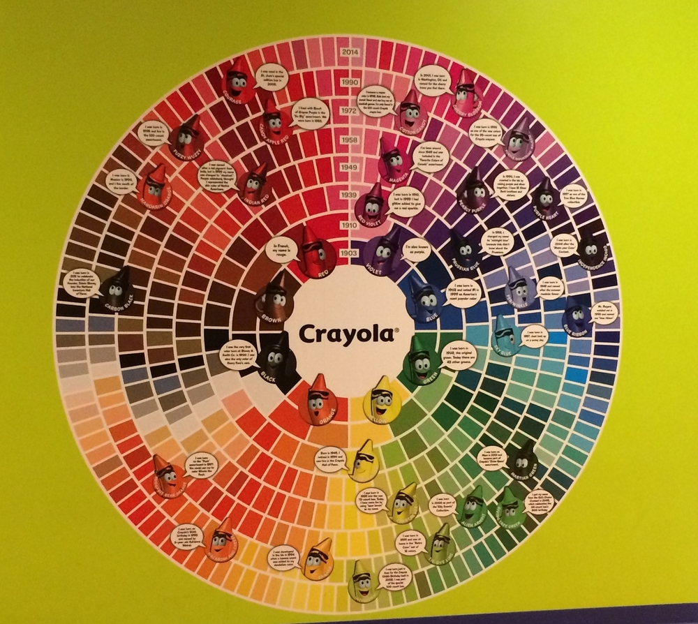 Crayola Experience Orlando, FL Color Wheel