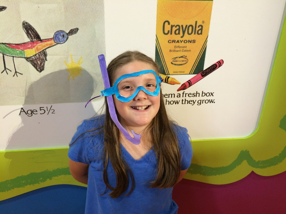 Crayola Experience Orlando, FL PAINT PALETTE Scuba Mask