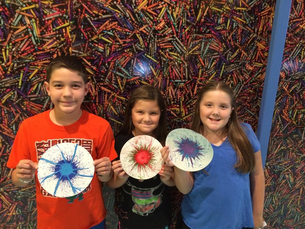 Crayola Experience Orlando, FL DRIP ART Swirly Masterpieces