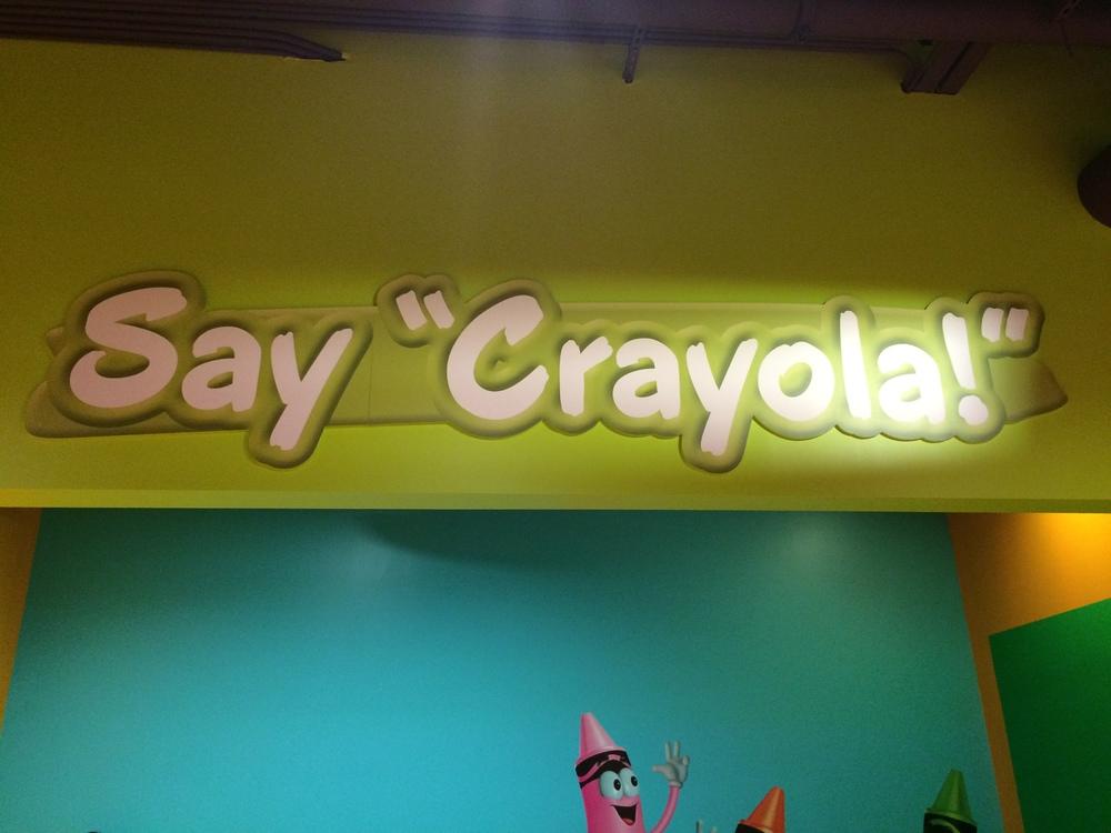 Crayola Experience Orlando, FL SAY CRAYOLA