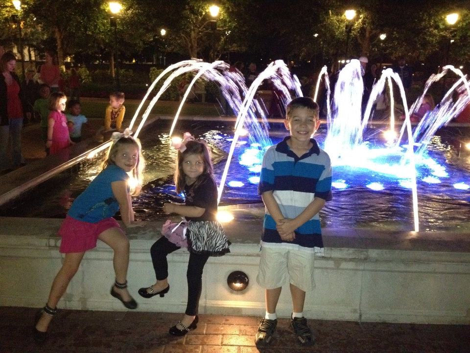 Posing by the Fountain at Cranes Roost