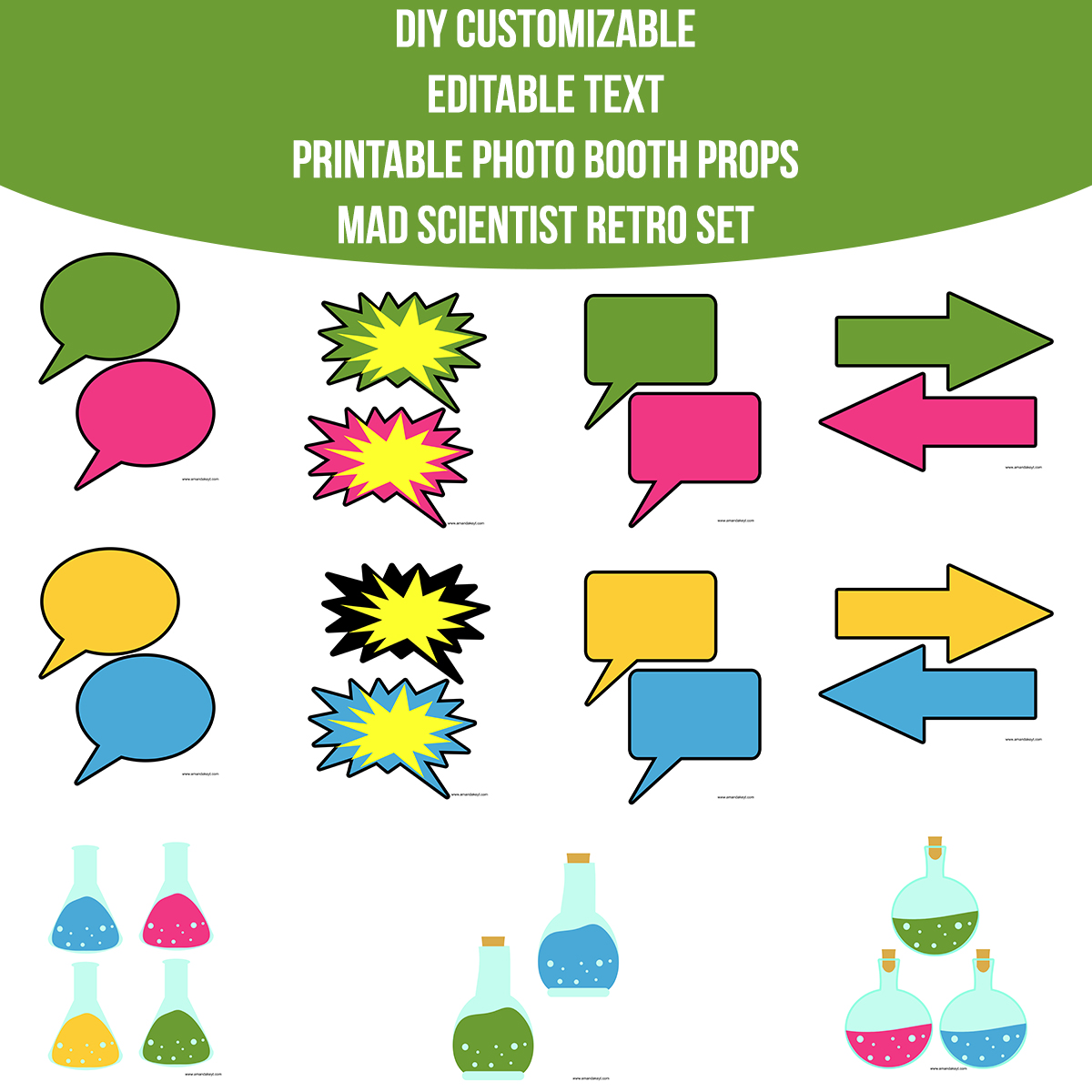 graphic regarding Printable Mad Science Sign known as Instantaneous Down load Nuts Scientist Retro Do-it-yourself Customizable Editable Terms Prop Established Amanda Keyt Printable Patterns