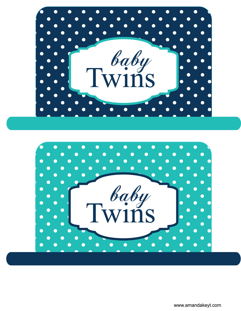 Navy Teal Twins