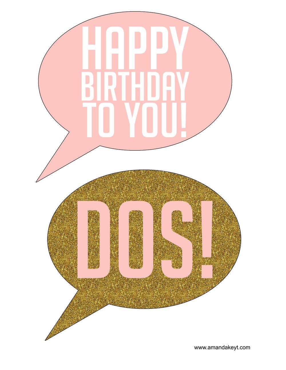 Pink & Gold 2nd Birthday
