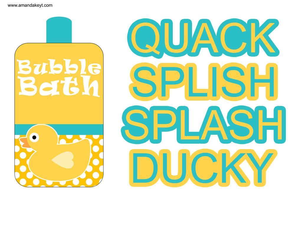 Teal Duck Birthday