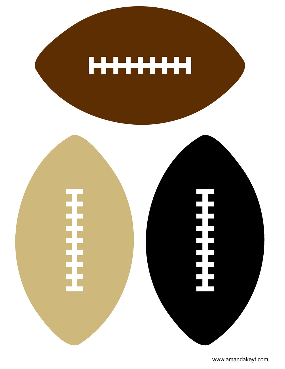 Black & Gold Football