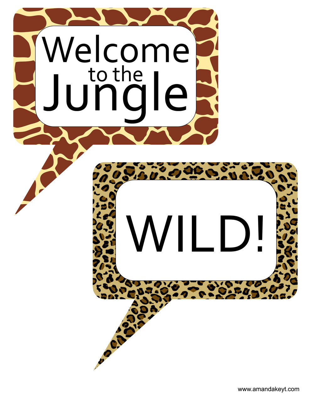 Jungle Animal Print