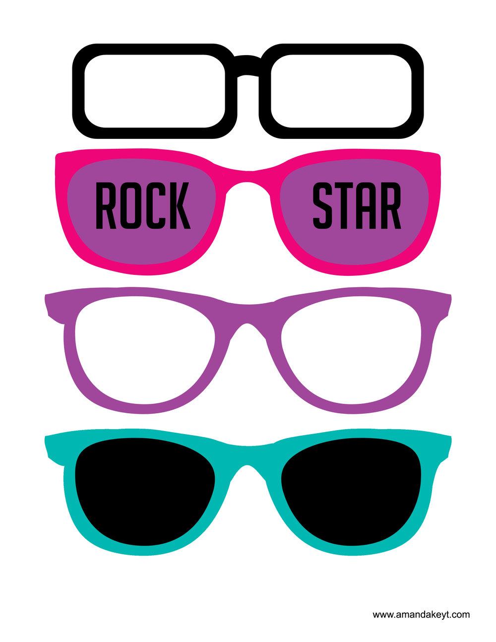Teal Pink Rock Star