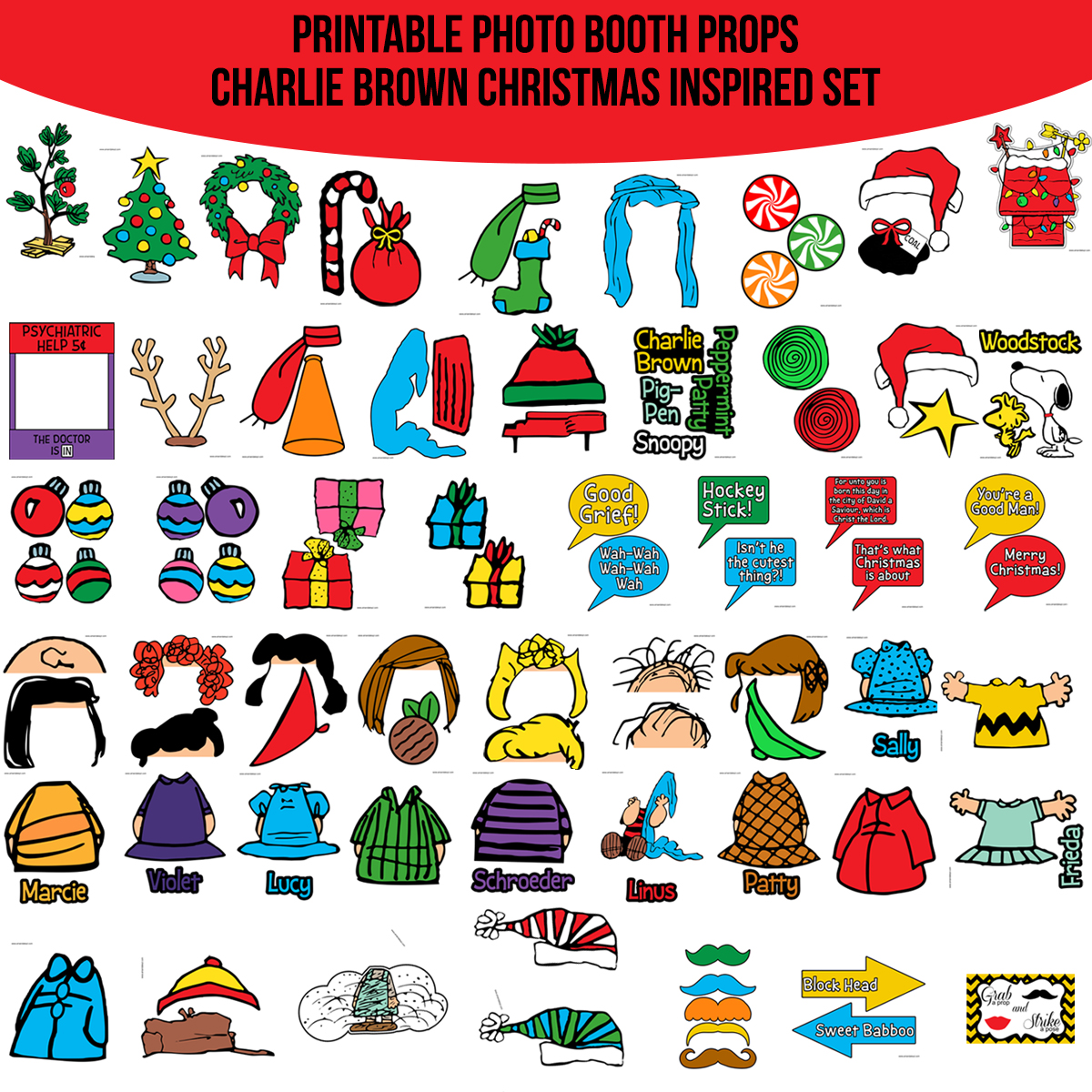 Instant Download Charlie Brown Christmas Peanuts Inspired