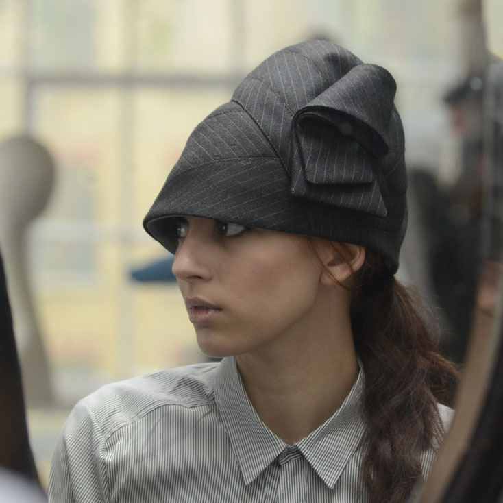 'Savoy' tall cloche hat