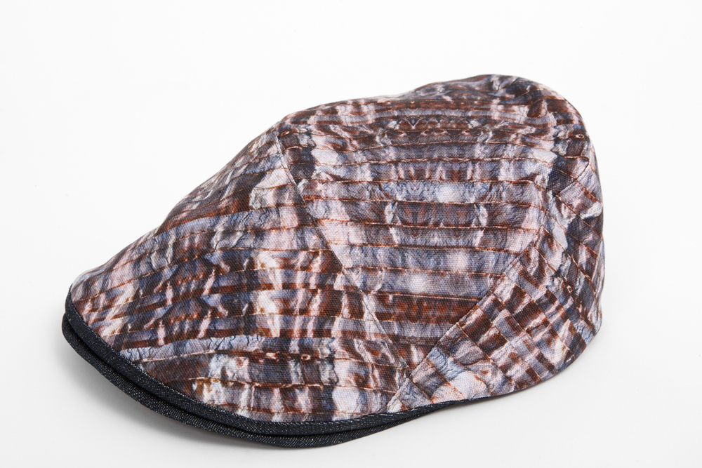 Stirling - cotton canvas flat cap with denim under-peak, £110, available to  buy online