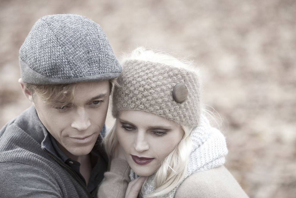 'Ripley' headband and 'Gower' beret-cap