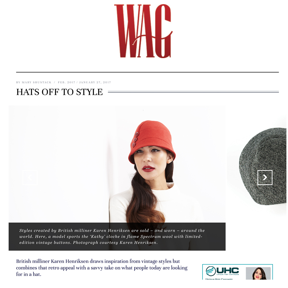 WAG magazine feature