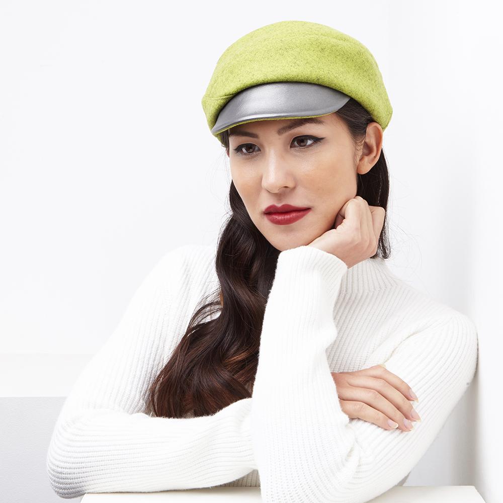 Blaize women's cap in lime wool