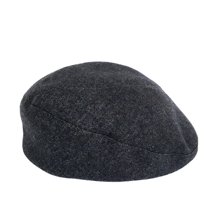 Pure Wool Beret-Cap for Men -  Assa  in Grey — Karen Henriksen 2e557d3e959