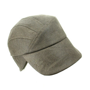 c2a54fe8 Wax Cotton Rain Cap for Men - 'Mack' in Charcoal - With Ear Warming