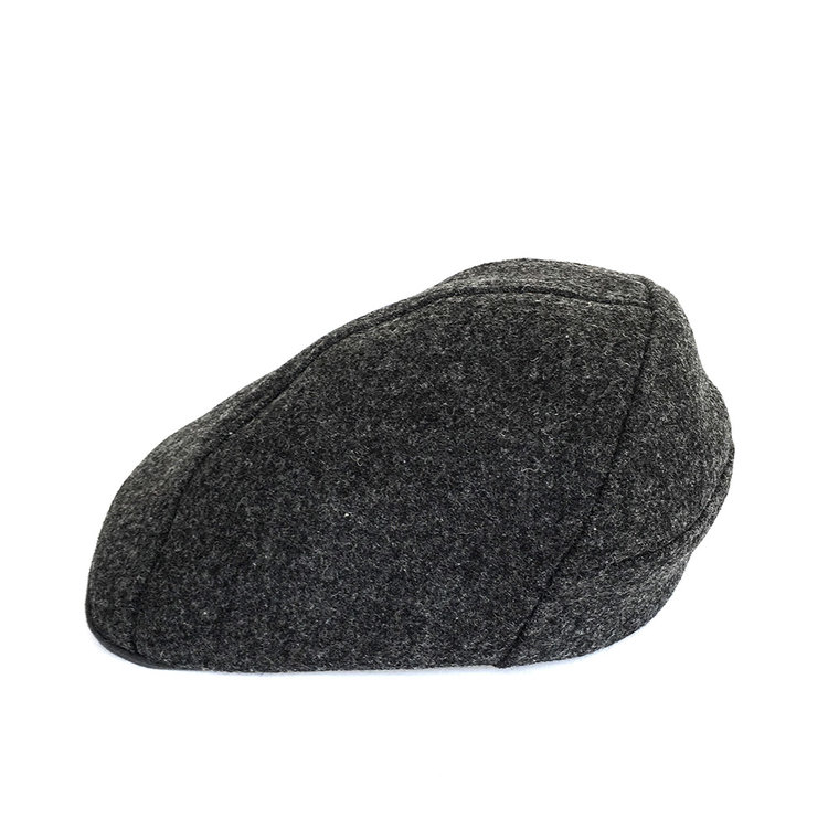 Shetland Wool Flat Cap for Men -  Clive  in Charcoal - By Karen Henriksen 4aee709bde6