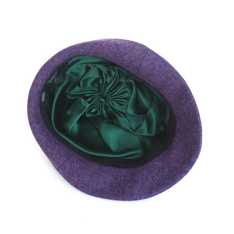 Wool Tweed Women s Trilby Hat -  Garbo  in purple by Karen Henriksen b34d4af9950