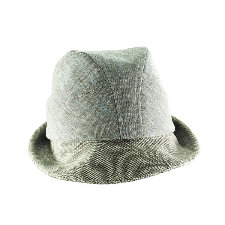 470ea71fc79 Organic Cotton Summer Trilby Hat for Men -  Denham  in Sage Green - By