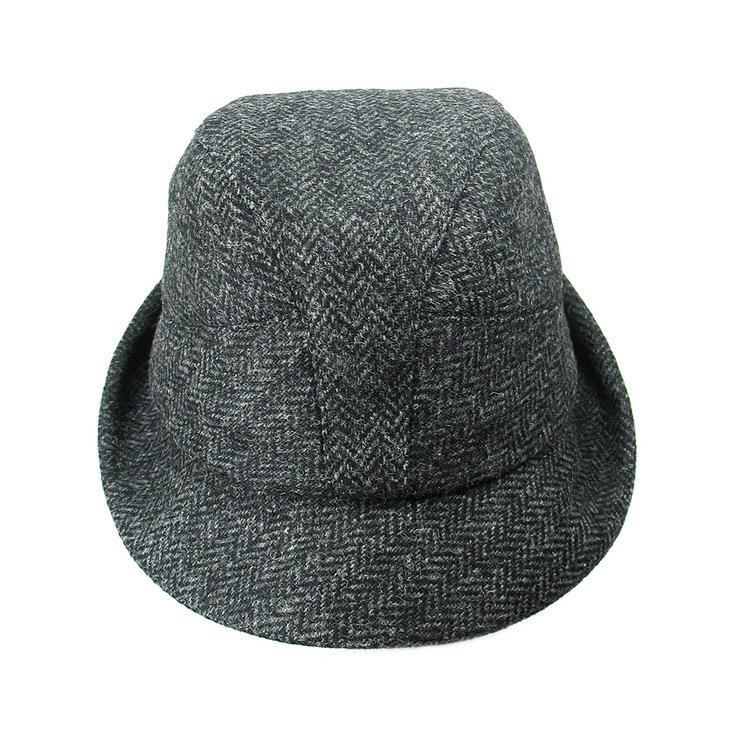 Men s Winter Tweed Trilby Hat -  Denham  in charcoal herringbone ... 2c61e7f50af