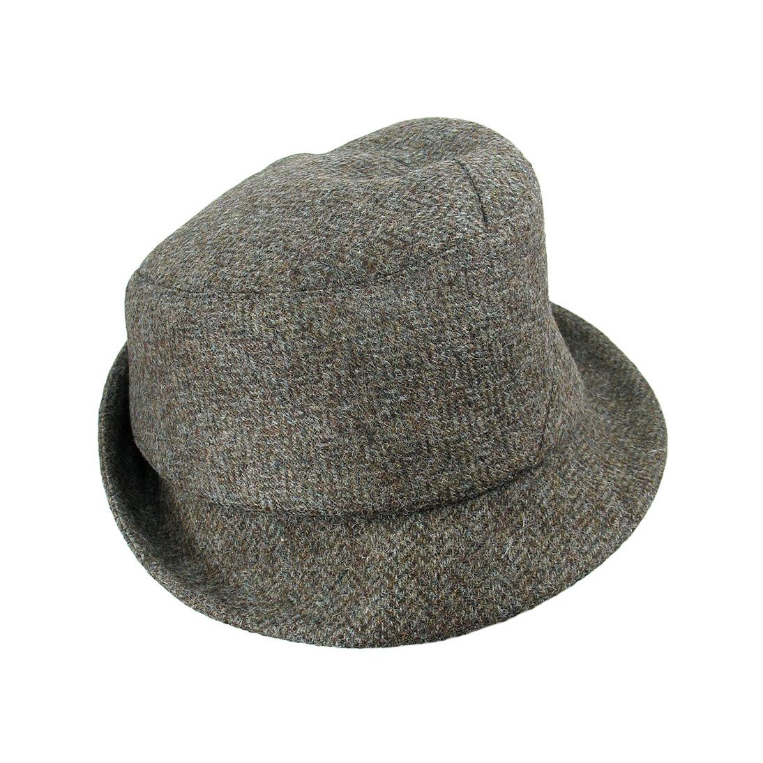 ee1a4d2e14f76 Wool Tweed Men s Winter Trilby Hat -  Sedley  in Herringbone - By Karen  Henriksen