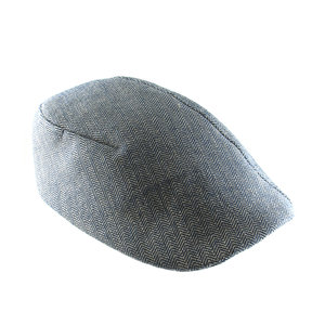 d713f38668e Organic Cotton Men s Flat Cap -  Garvey  in Brick or Navy Herringbone - By