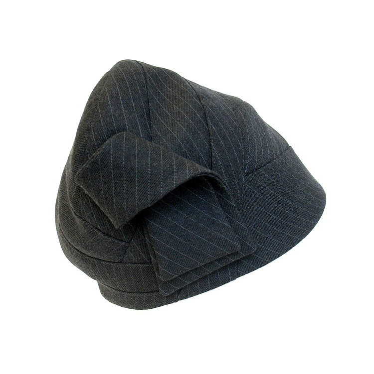 4b835a95106 Women s Wool Suiting Toque Hat -  Savoy  in charcoal pinstripe. savoy- pinstripe-4.jpg