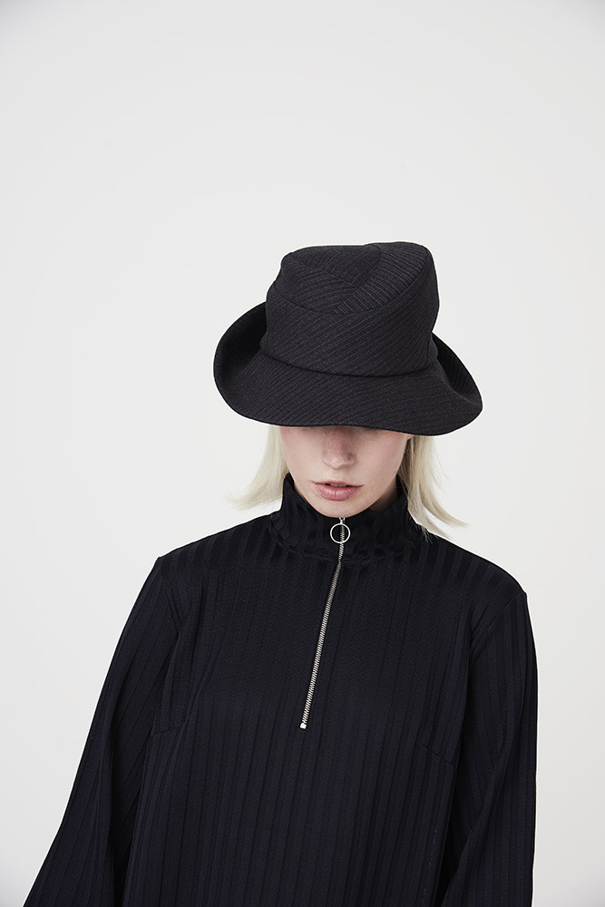 'Bergman' fedora style hat in wool suiting