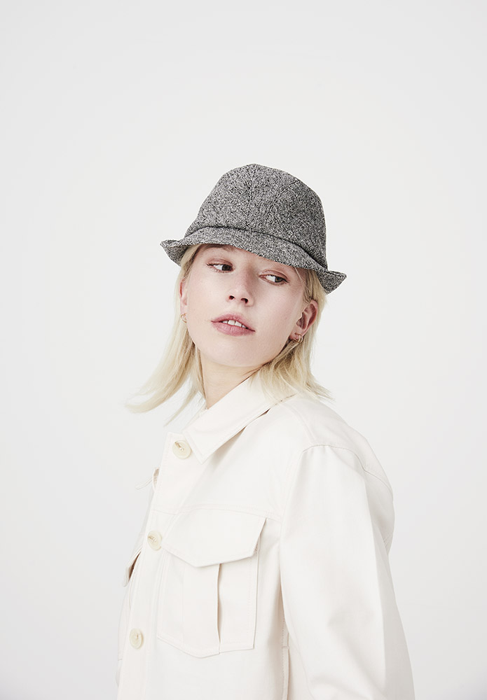 'Denham' trilby hat in silk tweed