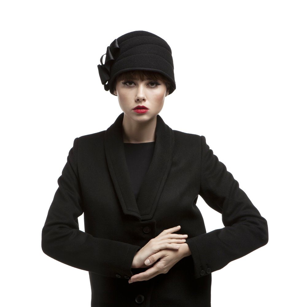 'Hepburn' cloche hat