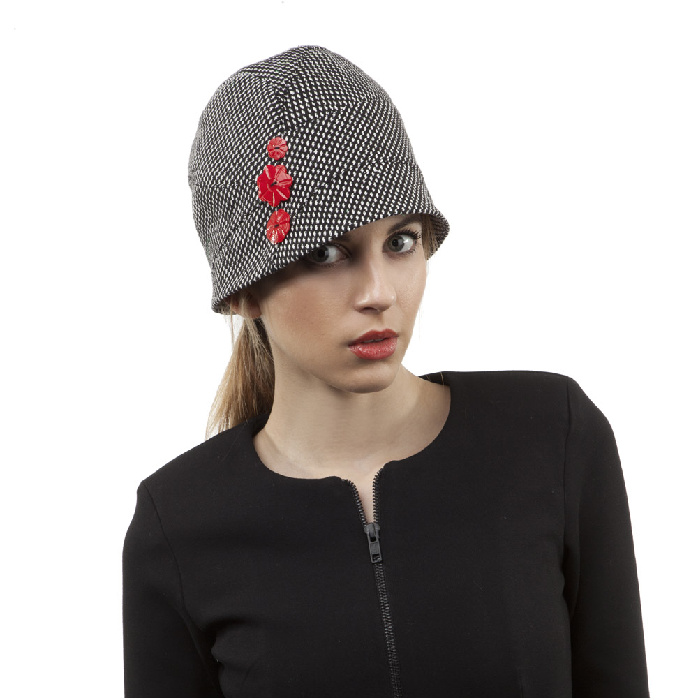 'Kathy' cloche hat in silk tweed
