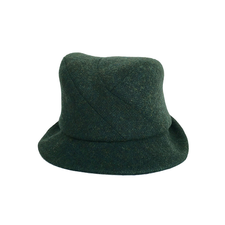 NEW - Unisex Wool Tweed Trilby Hat -  Berwick  in evergreen with ear ... d1e98431f41