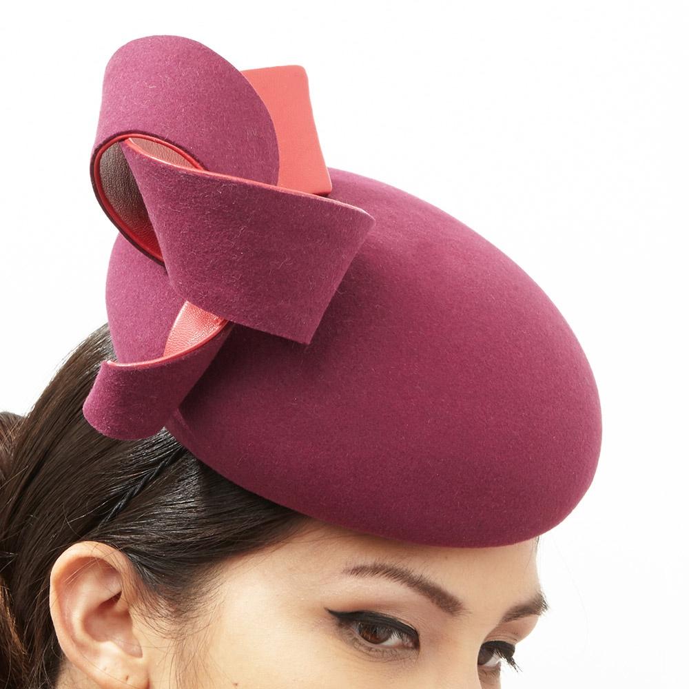 Mabel, cocktail hat by Karen Henriksen