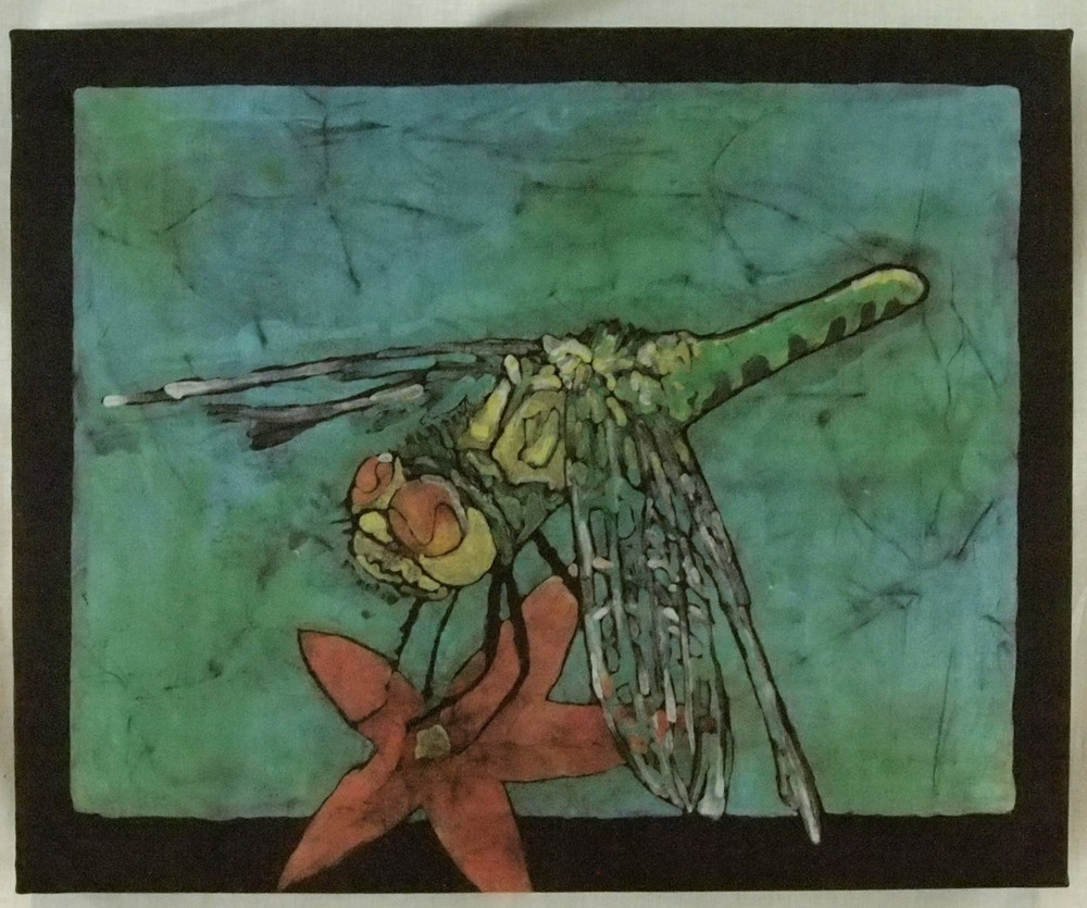 Dragon Fly-garden-batik-painting F.2.JPG