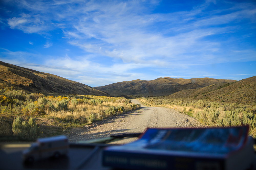 The dispersed camp sites were about 10 miles down a gravel road. The drive was beautiful in the late afternoon sun.