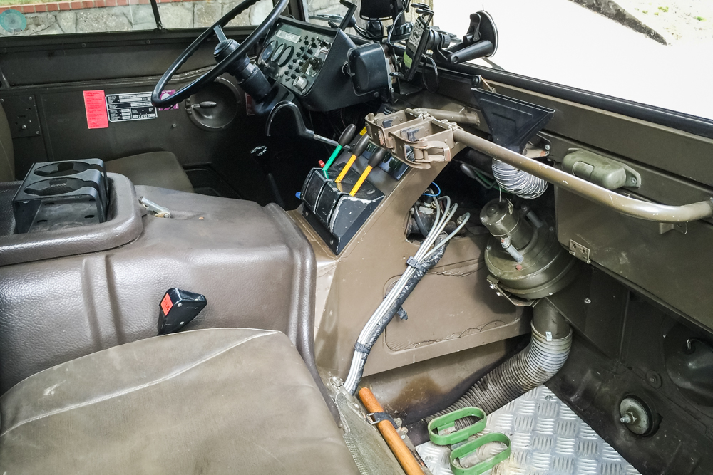 It has levers! And Rifle holders! (We actually removed the rifle racks and donated them back to Toby, who will be able to use in another vehicle of his.)