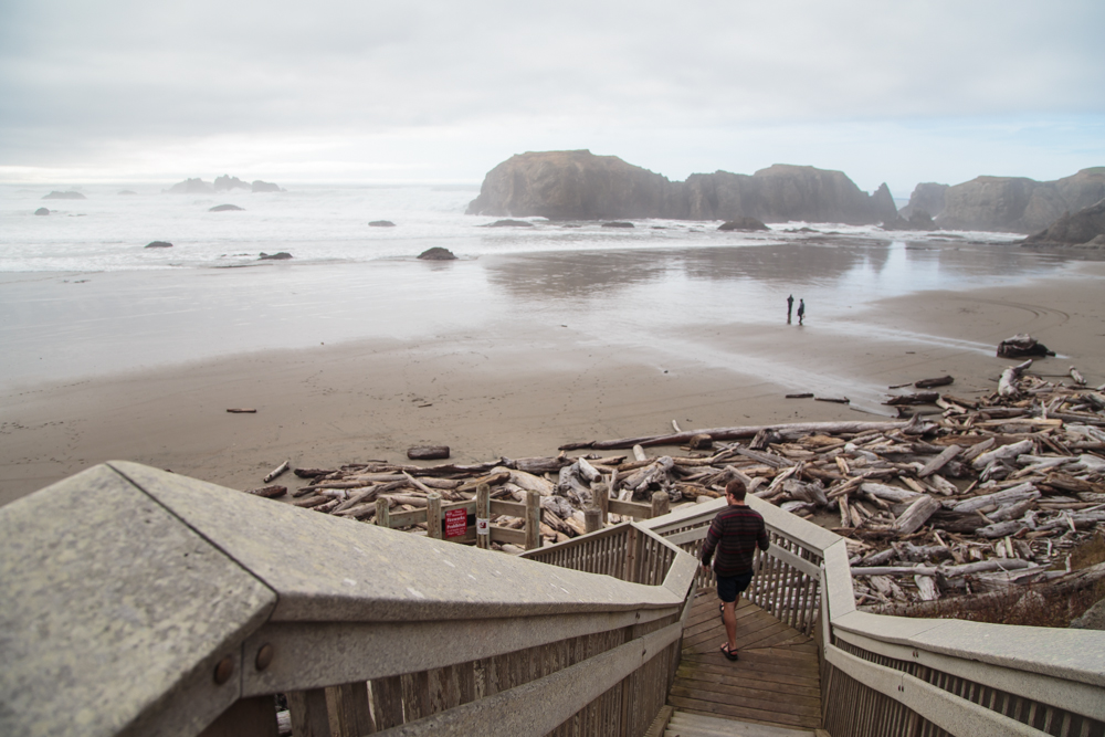The beaches are outstanding. Check out the driftwood! It collects and naturally barricades the exit from the stairs in this photo. Pretty cool.